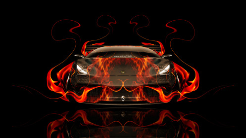 Lamborghini-Murcielago-Front-Fire-Car-2014-Abstract-HD-Wallpapers-design-by-Tony-Kokhan-[www.el-tony.com]