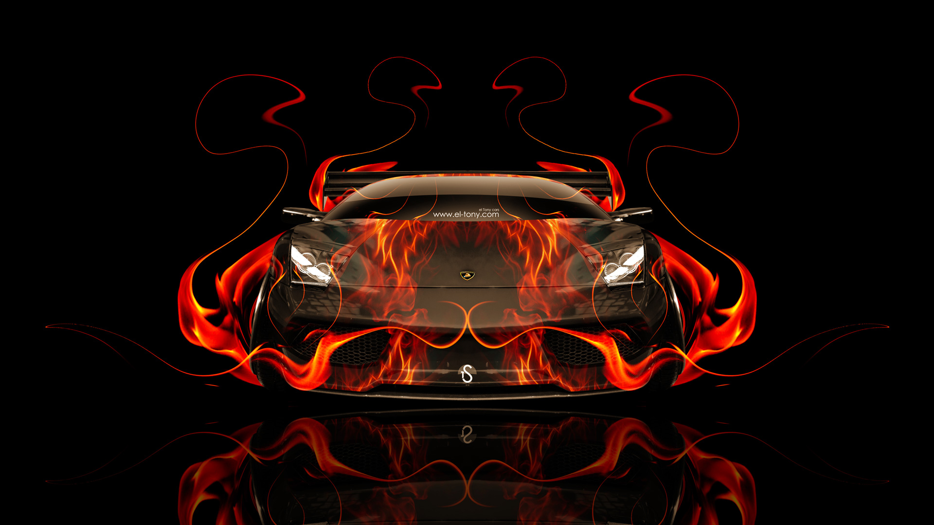 Merveilleux Lamborghini Gallardo Back Fire Abstract Car 2014 · Lamborghini Murcielago  Front Fire Car 2014