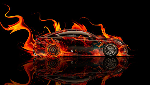 Lexus-RC-F-Side-Fire-Abstract-Car-2014-HD-Wallpapers-design-by-Tony-Kokhan-[www.el-tony.com]
