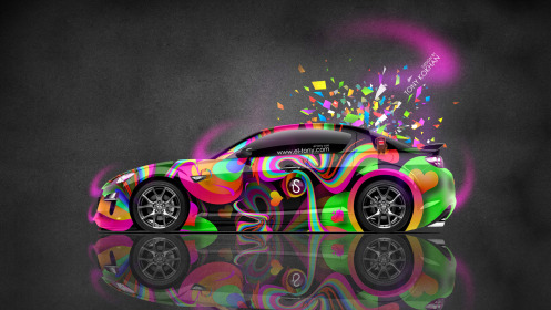 Mazda-RX8-JDM-Side-Domo-Kun-Toy-Car-2014-Multicolors-HD-Wallpapers-design-by-Tony-Kokhan-[www.el-tony.com]