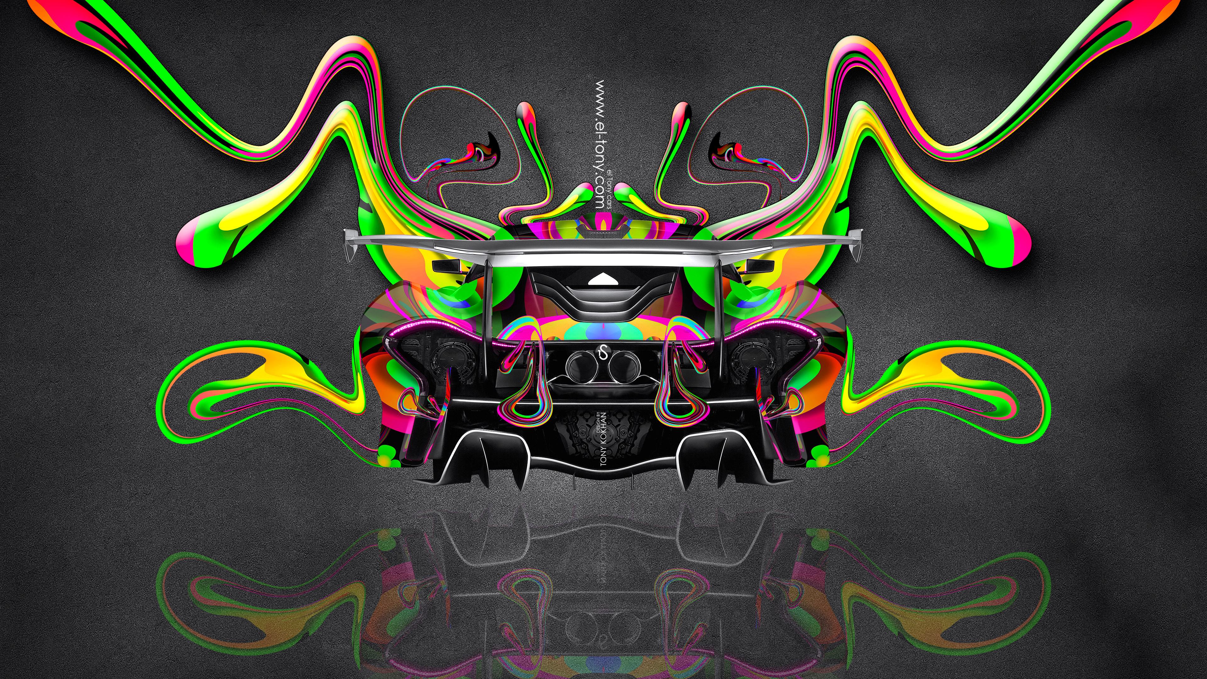 McLaren-P1-GTR-BackUp-Super-Plastic-Aerography-Abstract-Car-2014-Multicolors-4K-Wallpapers-design-by-Tony-Kokhan-[www.el-tony.com]