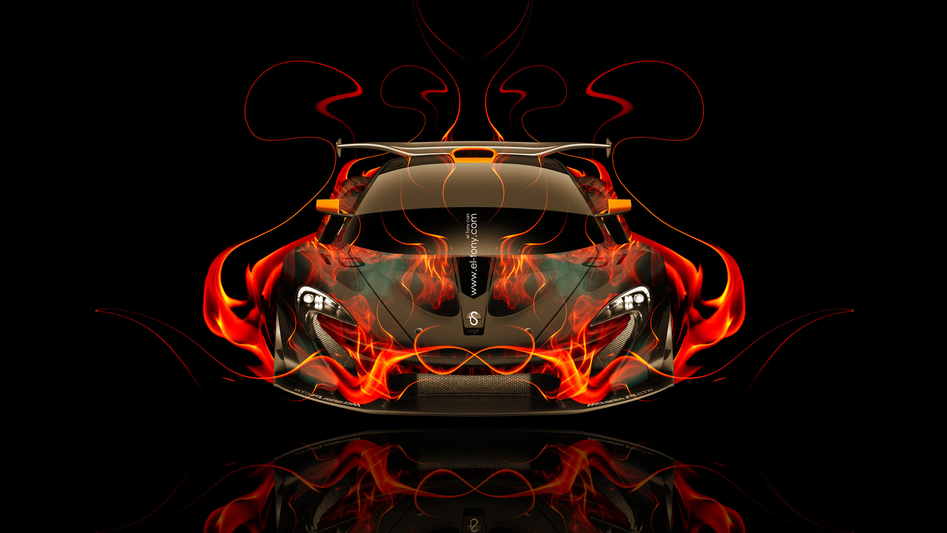 Etonnant McLaren P1 GTR FrontUp Fire Abstract Car 2014