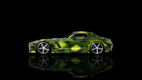 Mercedes-Benz-SLS-AMG-Side-Kiwi-Aerography-Car-2014-Green-Colors-HD-Wallpapers-design-by-Tony-Kokhan-[www.el-tony.com]