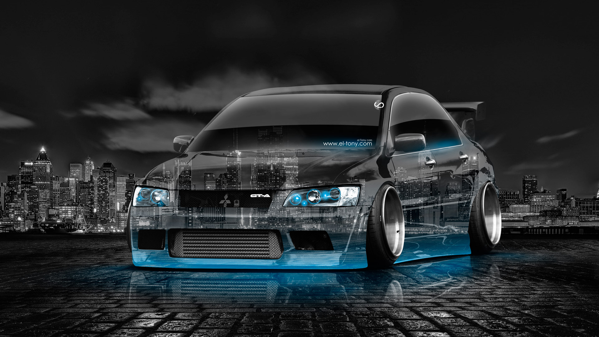 Charmant ... Mitsubishi Lancer Evolution JDM Tuning Crystal City Car  ...