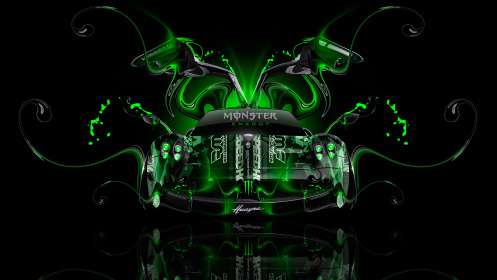 Monster-Energy-Pagani-Huayra-Front-Open-Doors-Plastic-Car-2014-Art-Green-Neon-Colors-HD-Wallpapers-design-by-Tony-Kokhan-[www.el-tony.com]