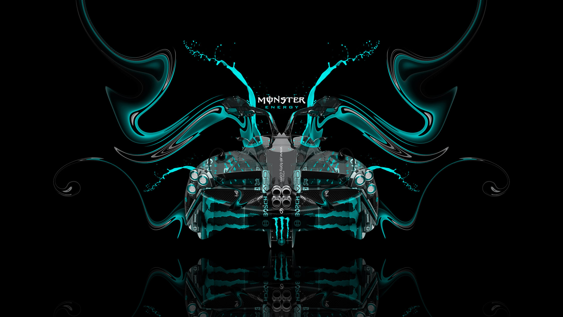 Exceptionnel ... Monster Energy Pagani Huayra Open Doors BackUp Plastic