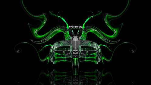 Monster-Energy-Pagani-Huayra-Open-Doors-BackUp-Plastic-Car-2014-Green-Colors-HD-Wallpapers-design-by-Tony-Kokhan-[www.el-tony.com]