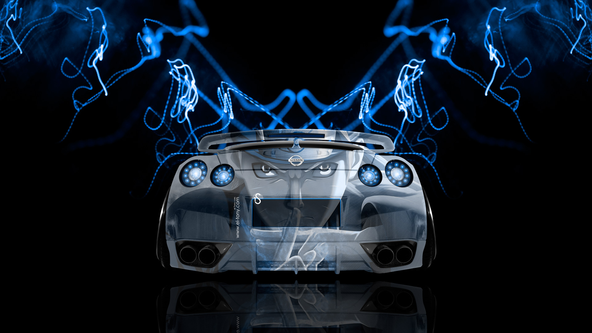 Genial ... Nissan GTR R35 Back Anime Aerography Car 2014