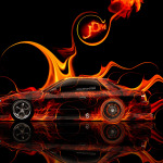 Nissan Silvia S13 JDM Side Fire Abstract Car 2014