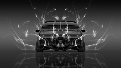 Nissan-Silvia-S14-JDM-Back-Smoke-Car-2014-Photoshop-Black-White-HD-Wallpapers-design-by-Tony-Kokhan-[www.el-tony.com]