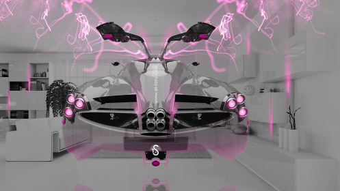 Pagani-Huayra-Open-Doors-BackUp-Crystal-Home-Fly-Car-2014-Pink-Neon-Effects-HD-Wallpapers-design-by-Tony-Kokhan-[www.el-tony.com]