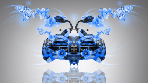 Pagani-Huayra-Open-Doors-BackUp-Fantasy-Fly-Butterfly-Flowers-Car-2014-Blue-Colors-HD-Wallpapers-design-by-Tony-Kokhan-[www.el-tony.com]
