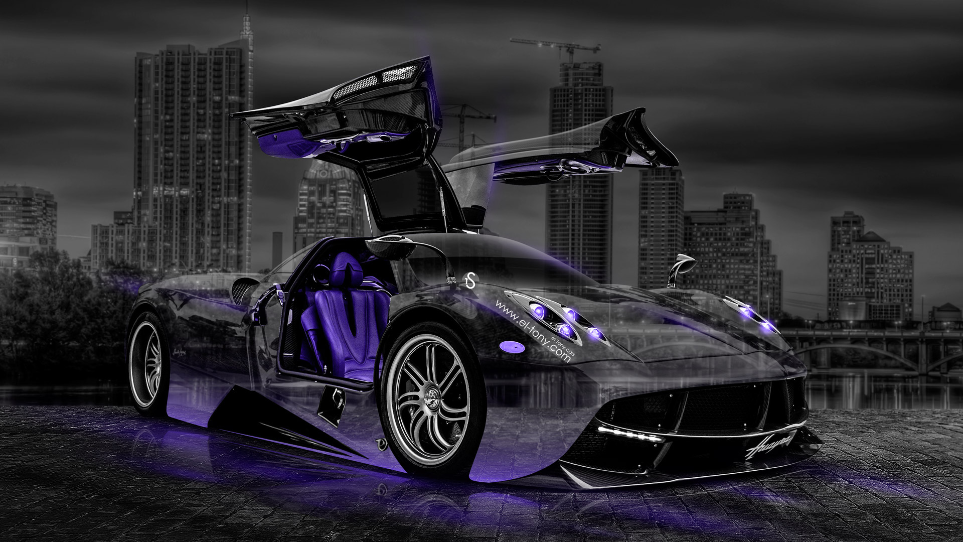 Delicieux Pagani Huayra Open Doors Crystal City Car 2014