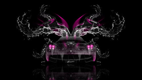 Pagani-Huayra-Open-Doors-Front-Water-Car-2014-Pink-Neon-HD-Wallpapers-design-by-Tony-Kokhan-[www.el-tony.com]