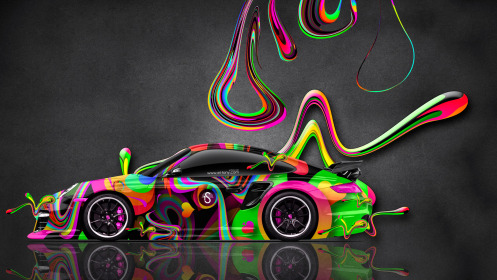 Porsche-911-GT2-Side-Abstract-Aerography-Super-Plastic-Car-2014-Multicolors-HD-Wallpapers-design-by-Tony-Kokhan-[www.el-tony.com]