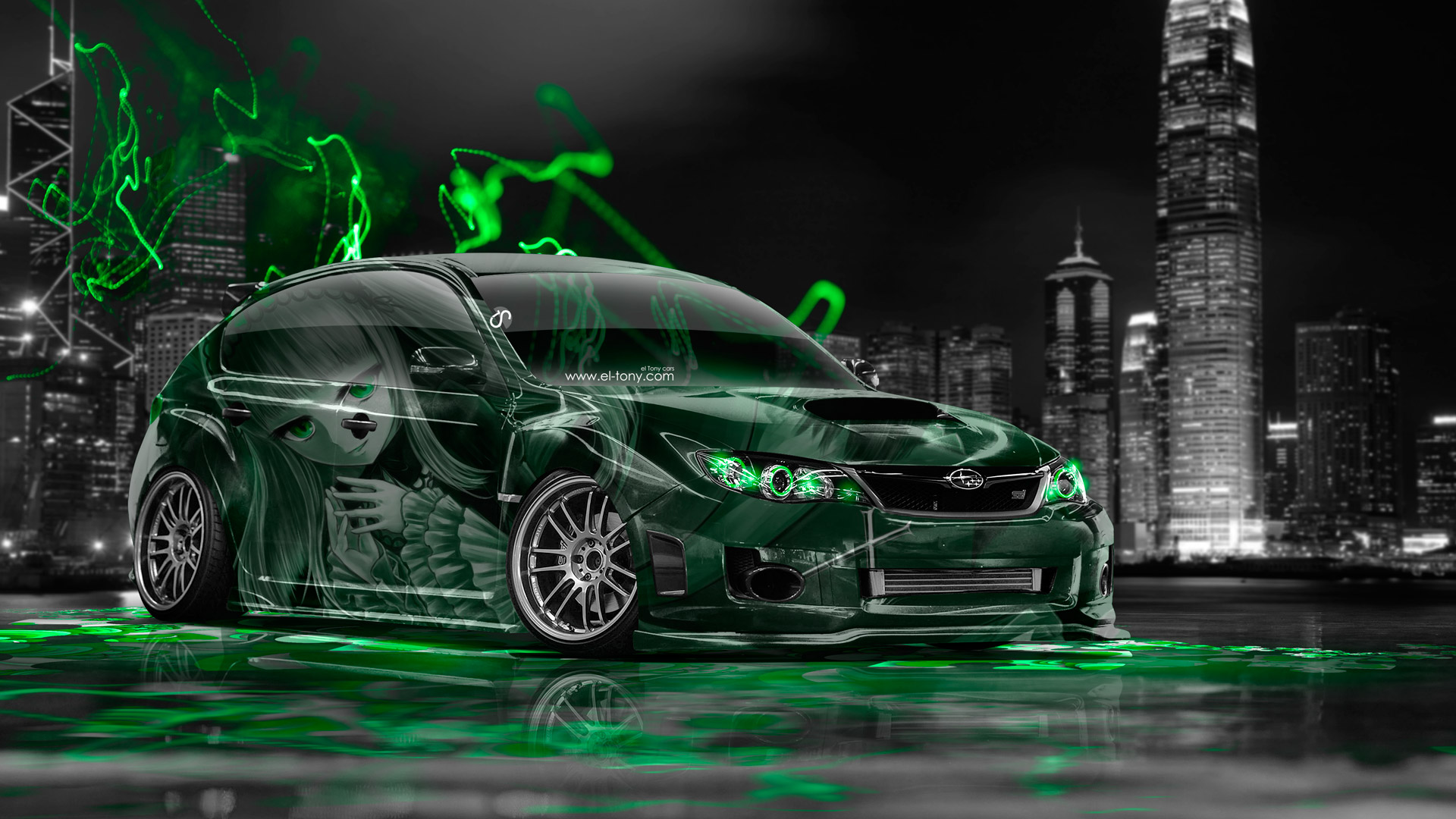 ... Subaru Impreza WRX STI JDM Anime Girl Aerography  ... Good Ideas