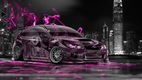 Subaru-Impreza-WRX-STI-JDM-Anime-Girl-Aerography-City-Car-2014-Art-Pink-Neon-Effects-HD-Wallpapers-design-by-Tony-Kokhan-[www.el-tony.com]