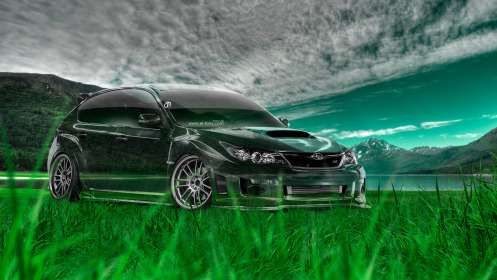 Subaru-Impreza-WRX-STI-JDM-Crystal-Nature-Car-2014-Green-Grass-HD-Wallpapers-design-by-Tony-Kokhan-[www.el-tony.com]