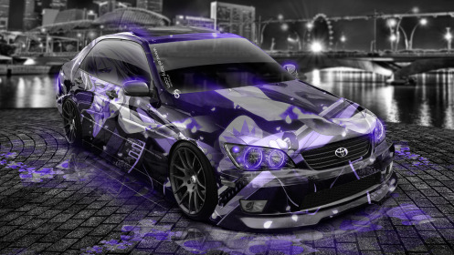 Toyota-Altezza-JDM-Anime-Aerography-City-Car-2014-Art-Violet-Neon-HD-Wallpapers-design-by-Tony-Kokhan-[www.el-tony.com]