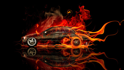 Toyota-Altezza-JDM-Side-Fire-Drift-Car-2014-HD-Wallpapers-design-by-Tony-Kokhan-[www.el-tony.com]