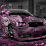 Toyota Crown Athlete JDM Anime Aerography City Car 2014