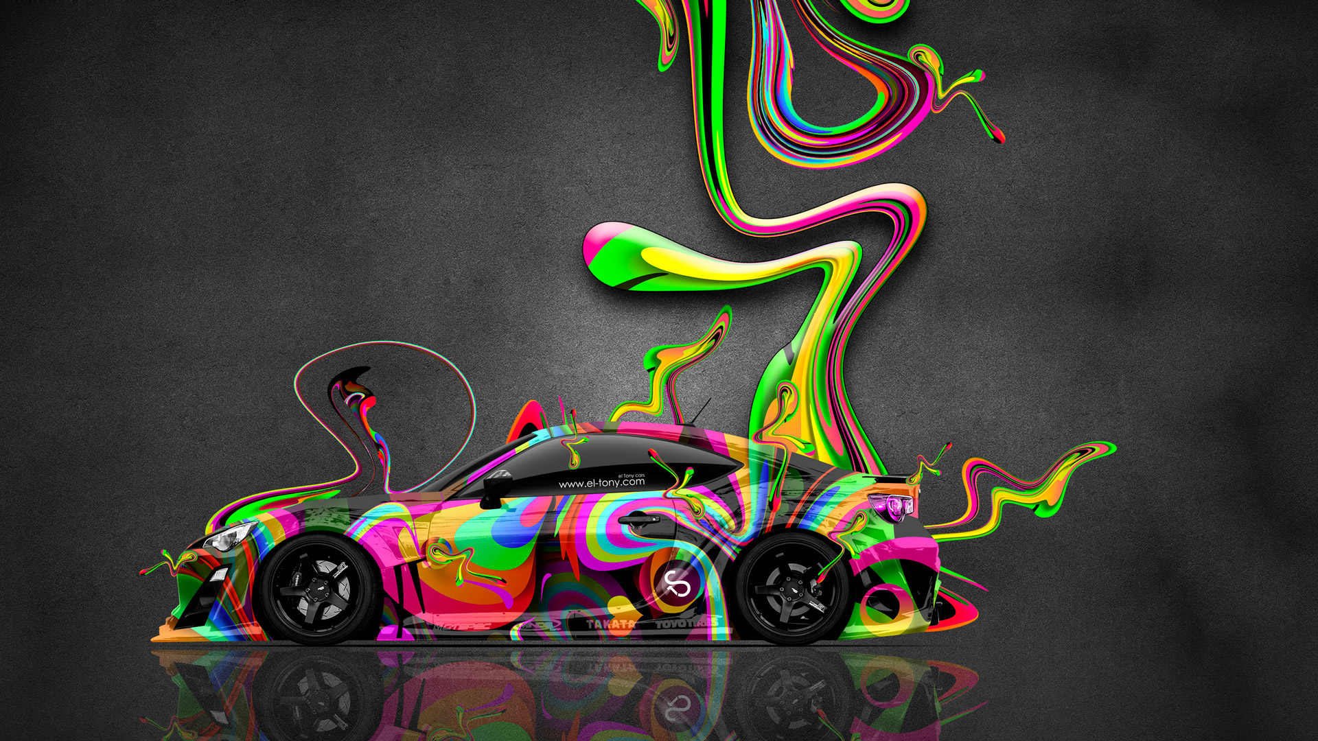 Toyota GT86 JDM Side Super Abstract Aerography Plastic