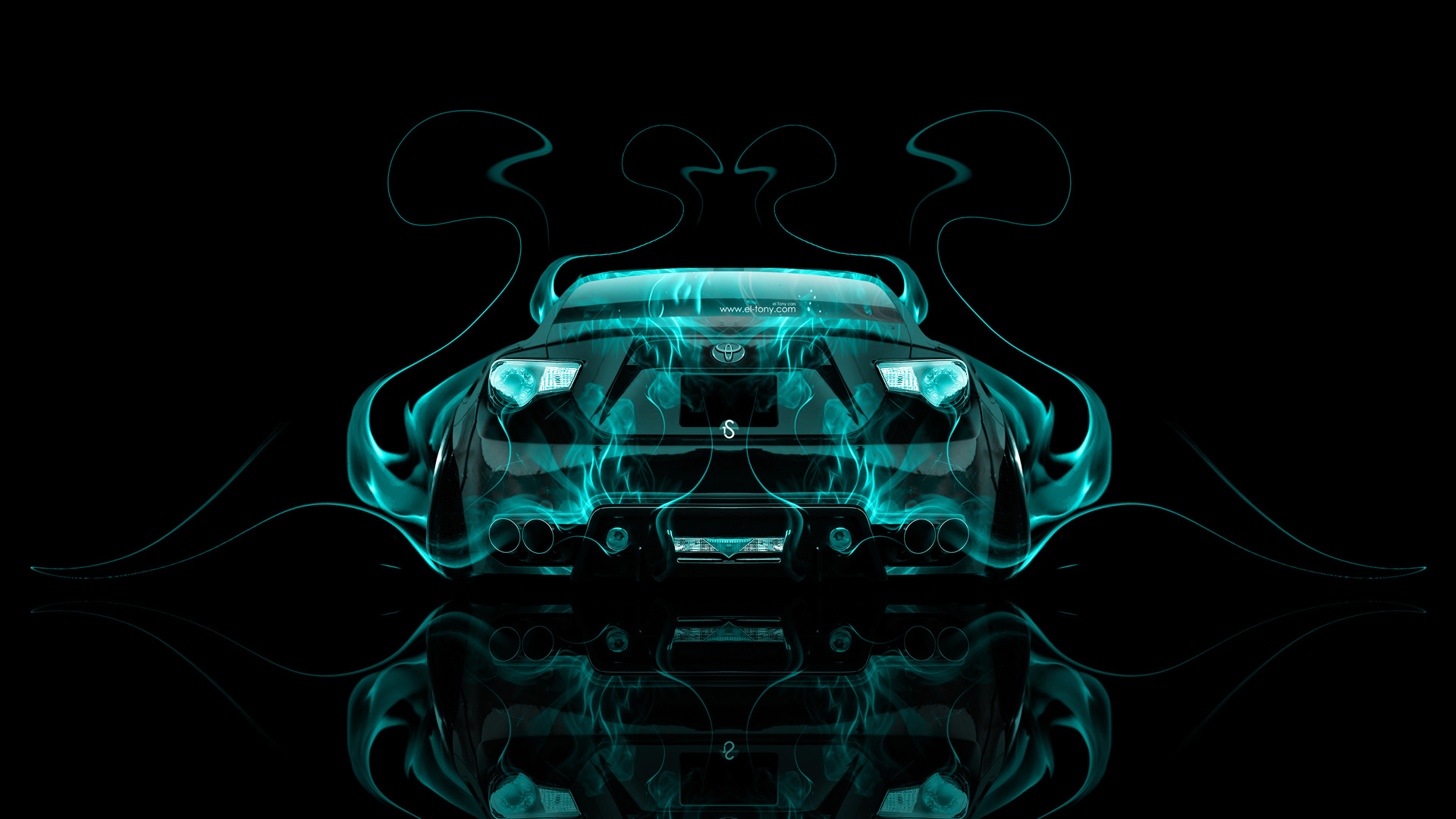 Toyota GT86 JDM Tuning Back Azure Fire Abstract .