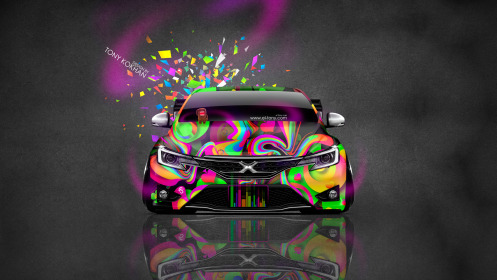 Toyota-Mark-X-350S-JDM-Front-Domo-Kun-Toy-Car-2014-Multicolors-HD-Wallpapers-design-by-Tony-Kokhan-[www.el-tony.com]