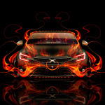 Toyota Mark X 350S JDM Front Fire Abstract Car 2014