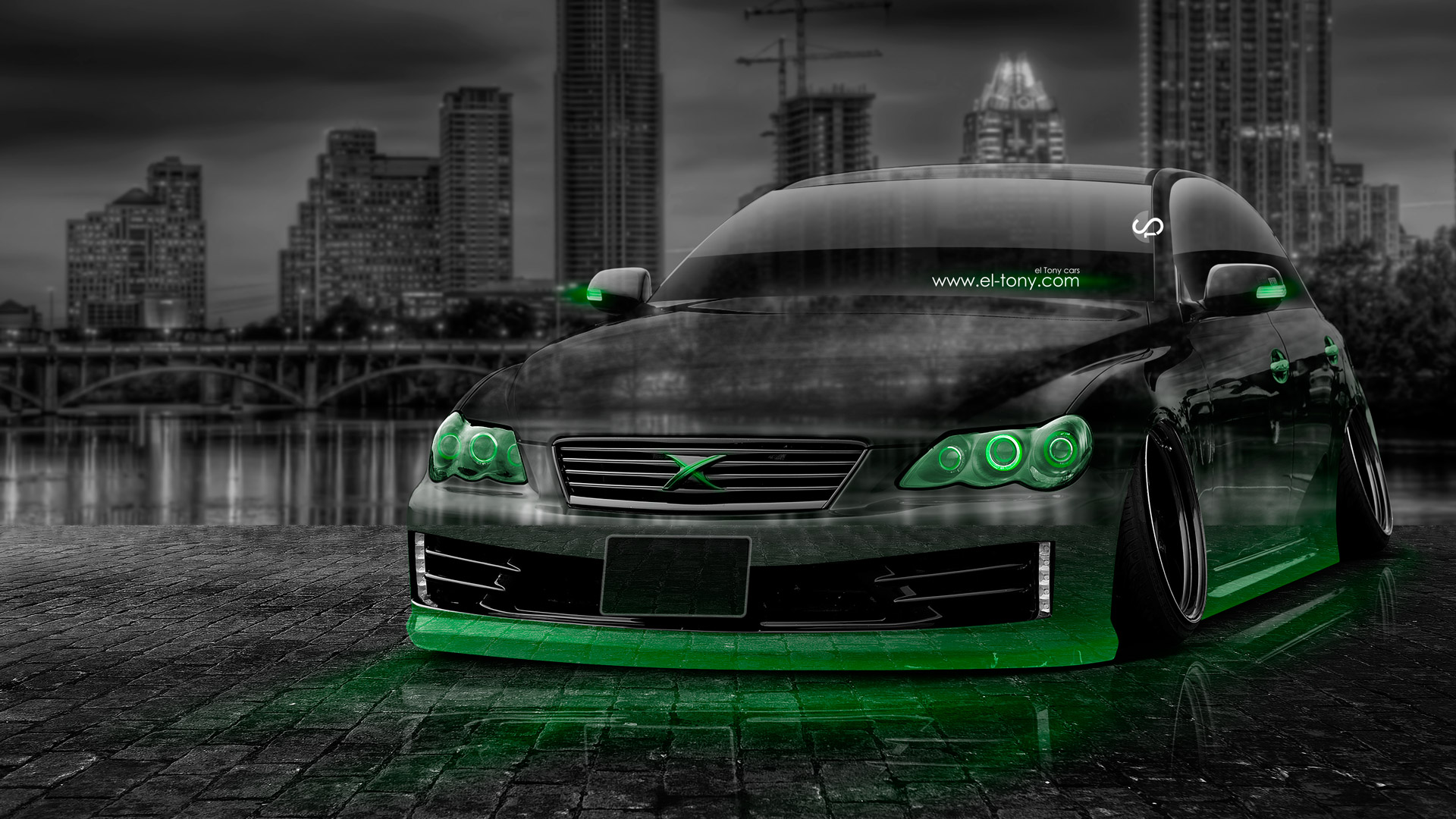 Toyota Mark X JDM Tuning Crystal City Car .