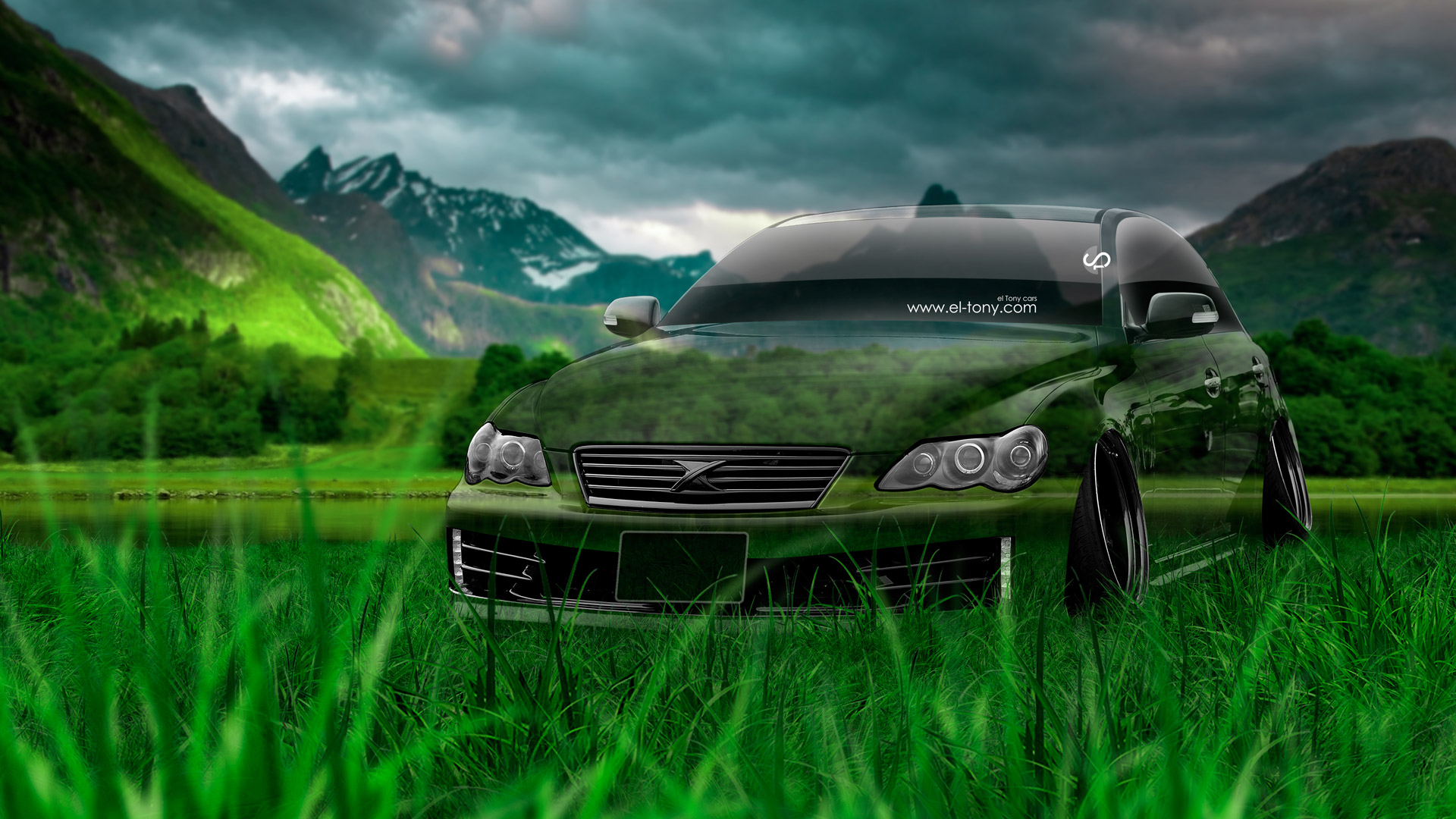 Superior ... Toyota Mark X JDM Tuning Crystal Nature Car 2014