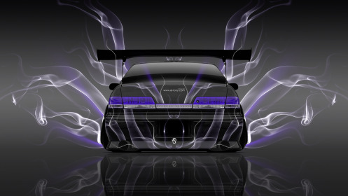 Toyota-Mark2-JZX100-JDM-Back-Smoke-Car-2014-Violet-Neon-HD-Wallpapers-design-by-Tony-Kokhan-[www.el-tony.com]