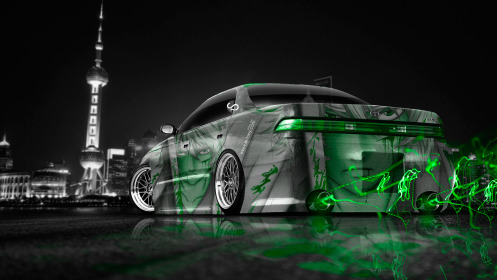 Toyota-Mark2-JZX90-JDM-Anime-Aerography-Samurai-City-Car-2014-Art-Green-Neon-Effects-HD-Wallpapers-design-by-Tony-Kokhan-[www.el-tony.com]