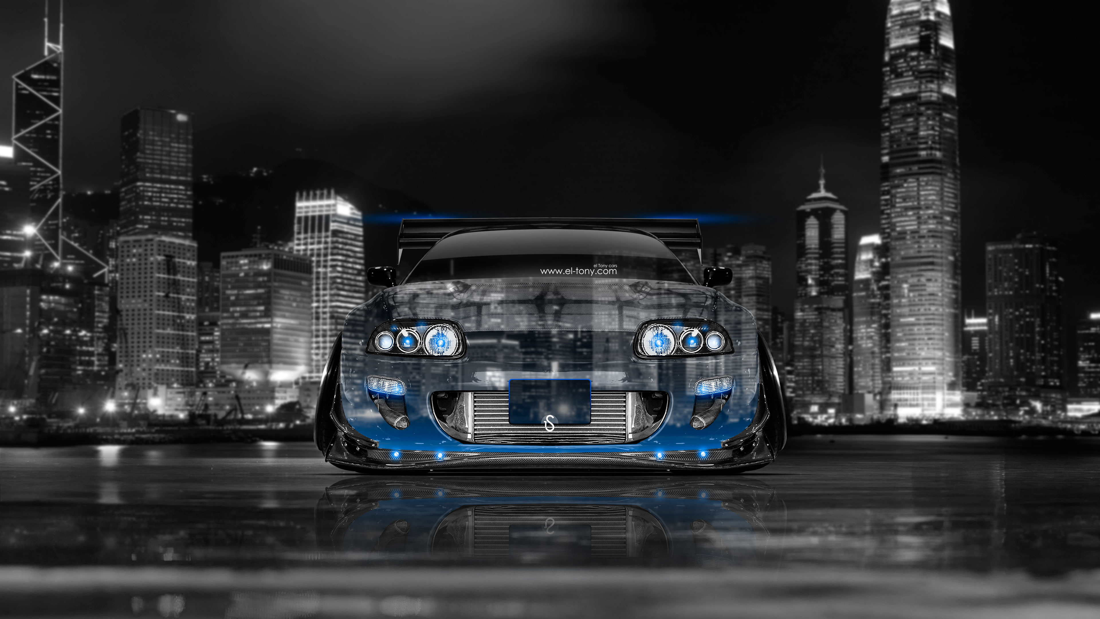 Superieur Toyota Supra JDM Tuning Front Crystal City Car  ...