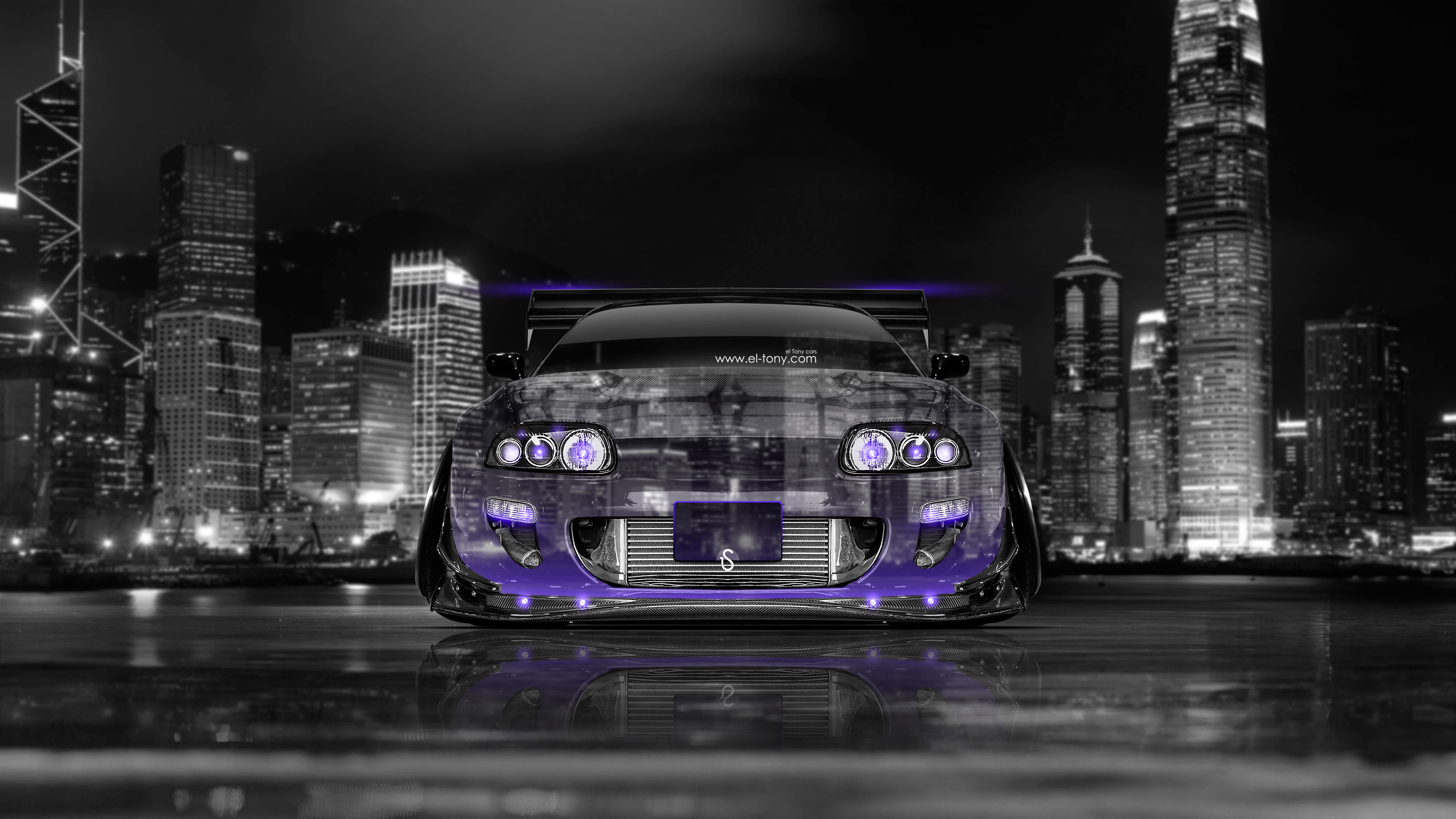 Bon Toyota Supra JDM Tuning Front Crystal City Car
