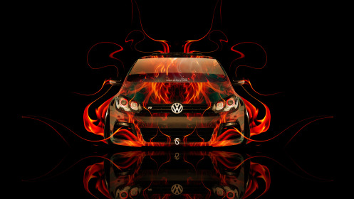 Volkswagen-Golf-R-Front-Fire-Abstract-Car-2014-HD-Wallpapers-design-by-Tony-Kokhan-[www.el-tony.com]