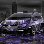 Volkswagen Golf Tuning Anime Aerography City Car 2014