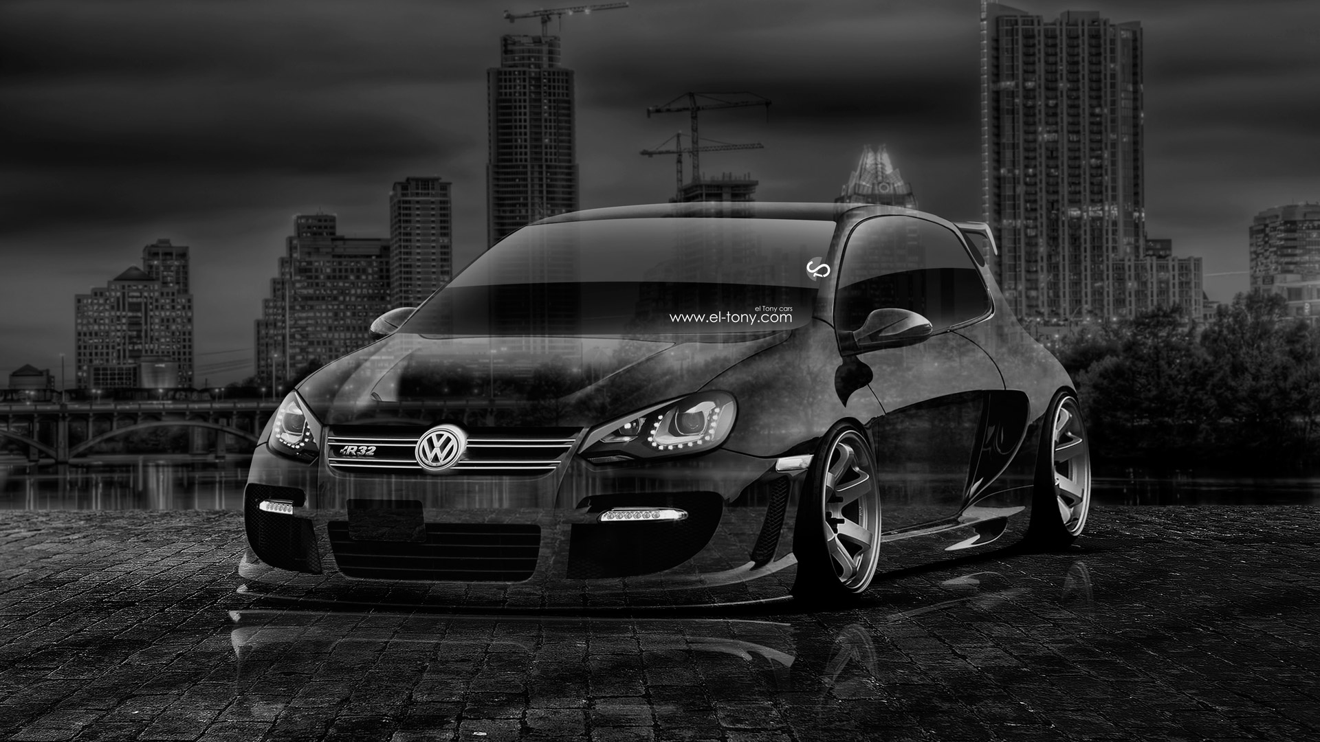 High Quality Volkswagen Golf R32 Tuning Crystal City Car 2014