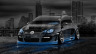 Volkswagen-Golf-R32-Tuning-Crystal-City-Car-2014-Photoshop-Art-Blue-Neon-HD-Wallpapers-design-by-Tony-Kokhan-[www.el-tony.com]