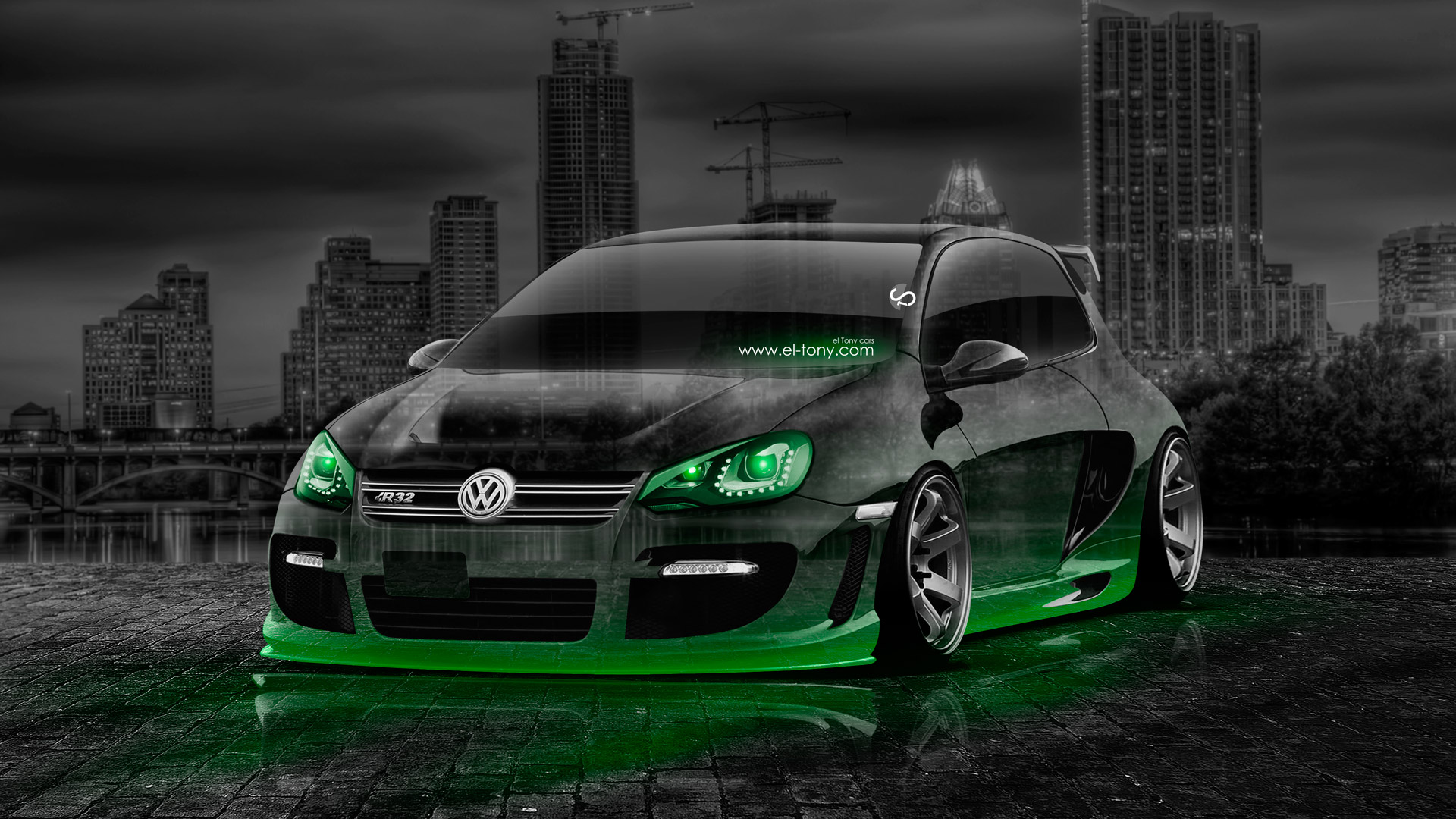 Volkswagen Golf Tuning Crystal City Car 2014 El Tony