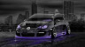 Volkswagen-Golf-R32-Tuning-Crystal-City-Car-2014-Photoshop-Art-Violet-Neon-HD-Wallpapers-design-by-Tony-Kokhan-[www.el-tony.com]
