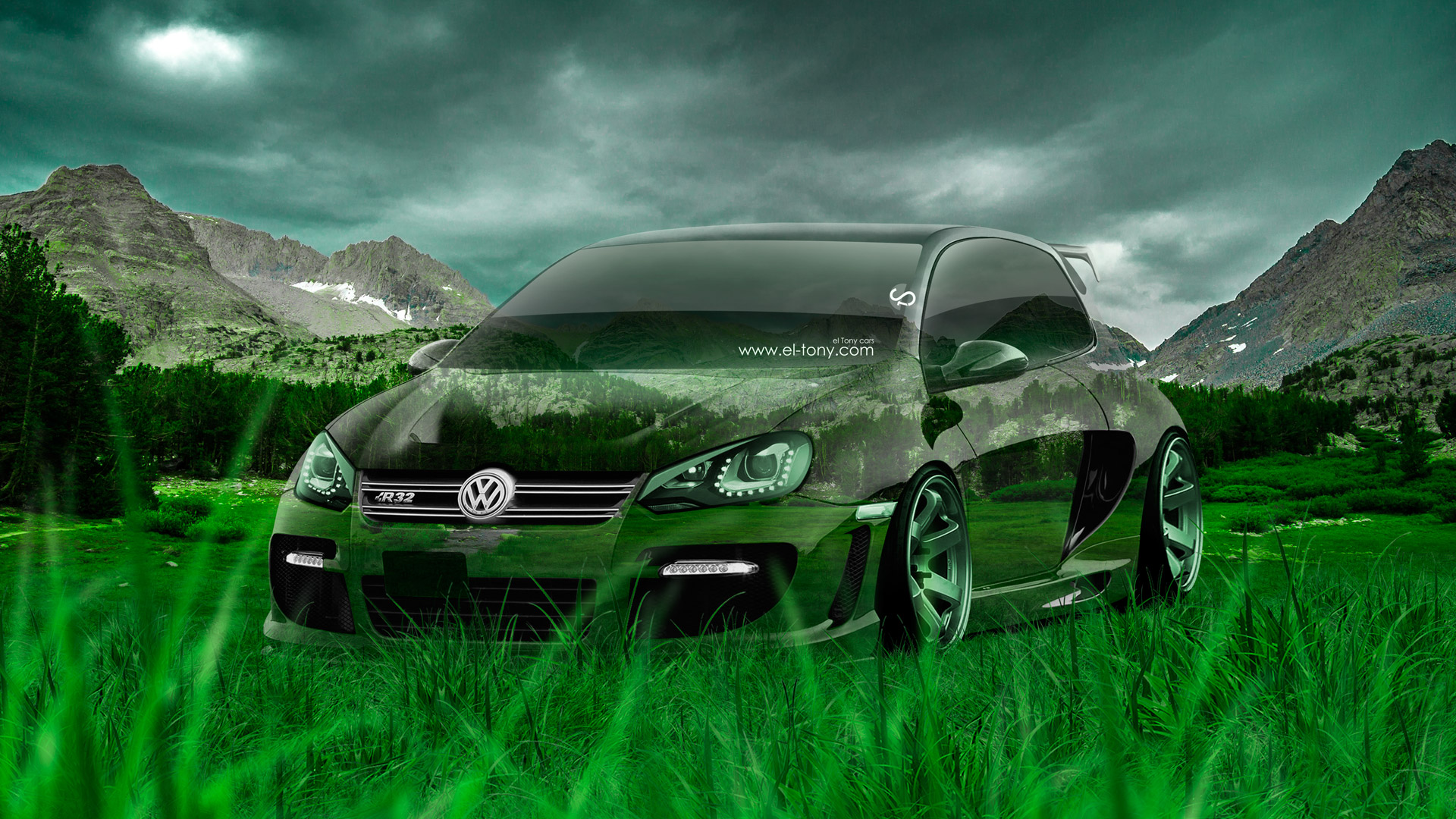 Exceptional Volkswagen Golf R32 Tuning Crystal Nature Car 2014