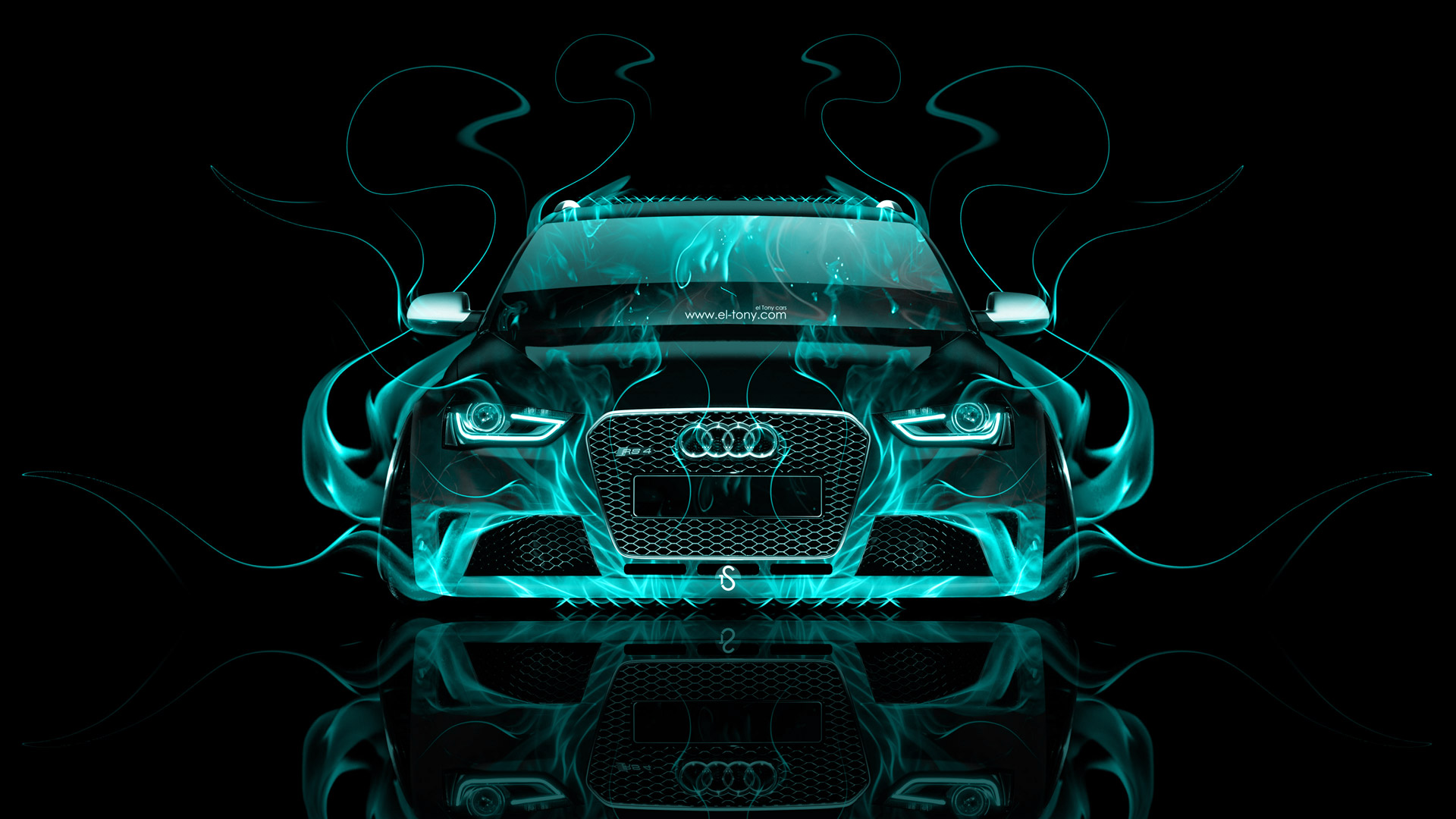 Audi RS6 Front Fire Abstract Car 2015 Wallpapers El Tony Cars .