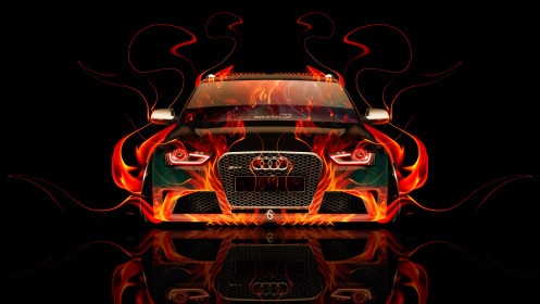 Audi-RS4-Front-Fire-Abstract-Car-2014-HD-Wallpapers-design-by-Tony-Kokhan-[www.el-tony.com]