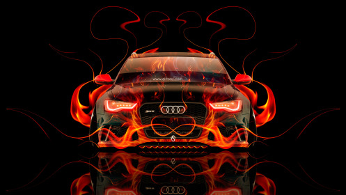 Audi-RS6-Front-Fire-Abstract-Car-2014-HD-Wallpapers-design-by-Tony-Kokhan-[www.el-tony.com]