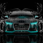 Audi RS7 Front Water Car 2014