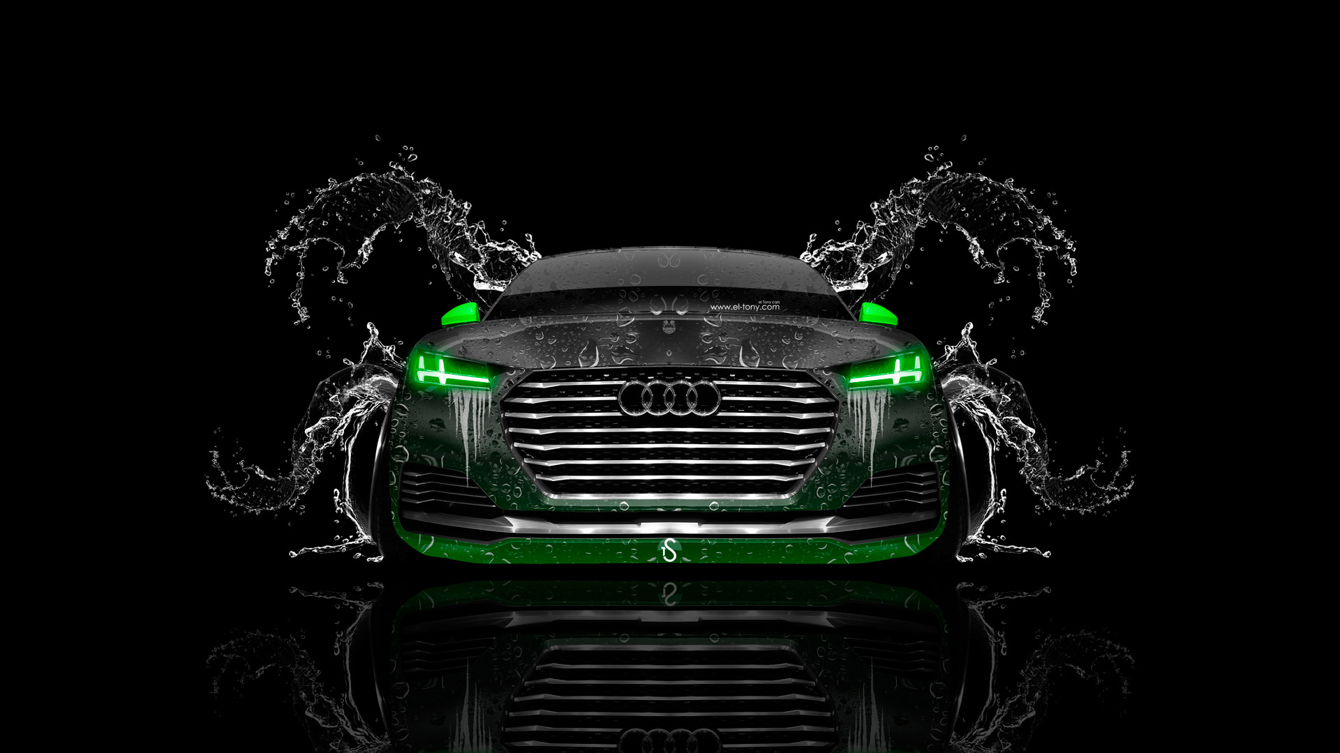Audi Tt Offroad Front Water Car 2014 El Tony
