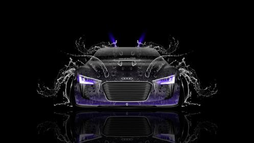 Audi-e-tron-Spyder-Front-Water-Car-2014-Violet-Neon-HD-Wallpapers-design-by-Tony-Kokhan-[www.el-tony.com]