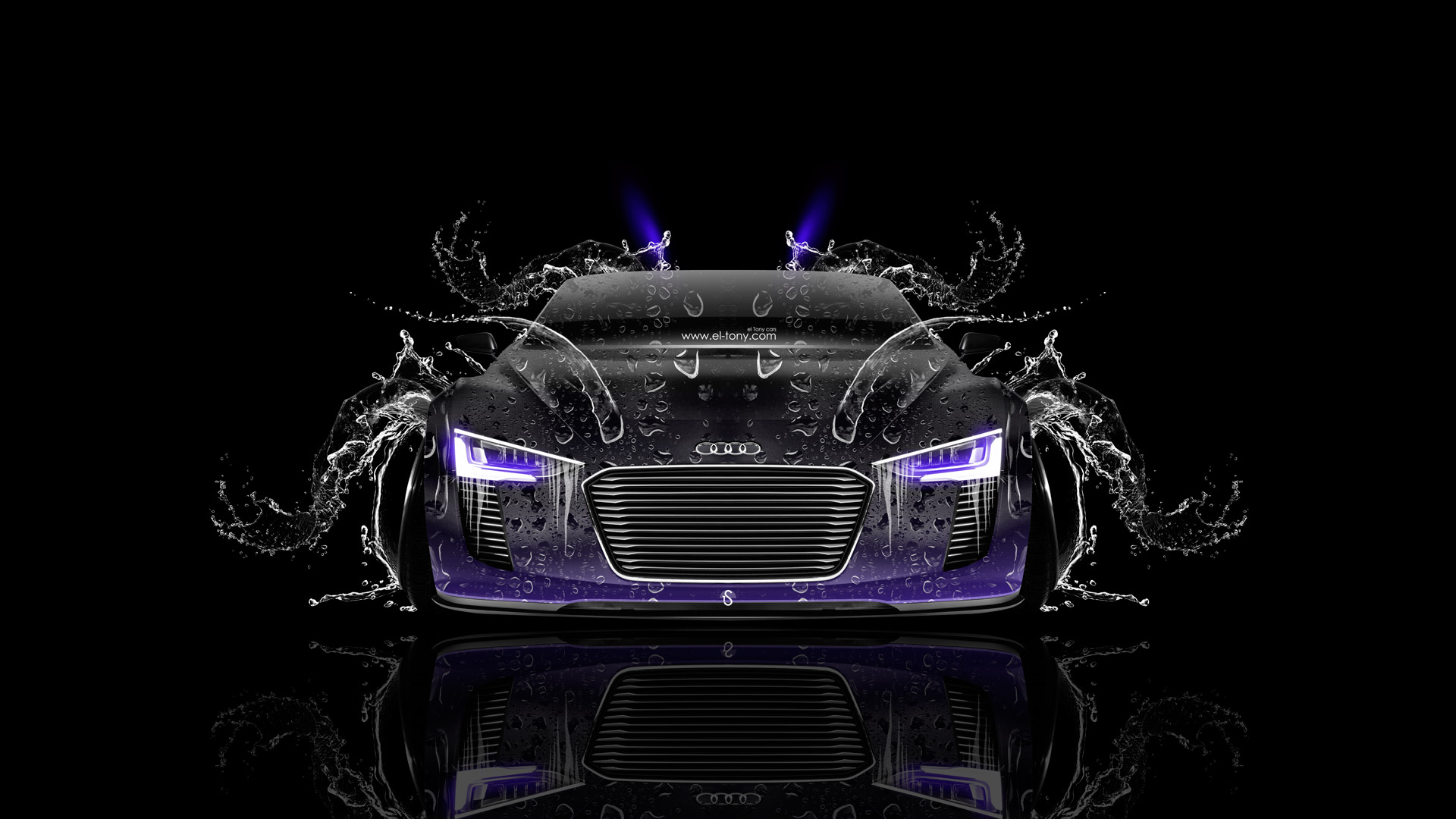 Audi R8 Fire Car Abstract 2013 | El Tony   Part 3