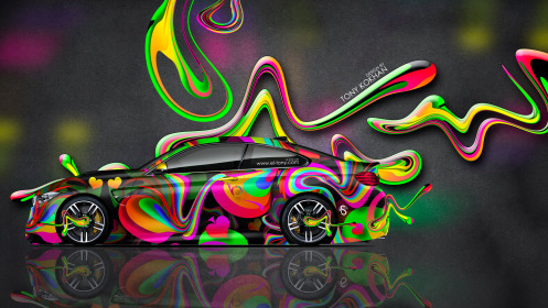 BMW-M4-Coupe-Side-Abstract-Aerography-Super-Plastic-Car-2014-Multicolors-HD-Wallpapers-design-by-Tony-Kokhan-[www.el-tony.com]